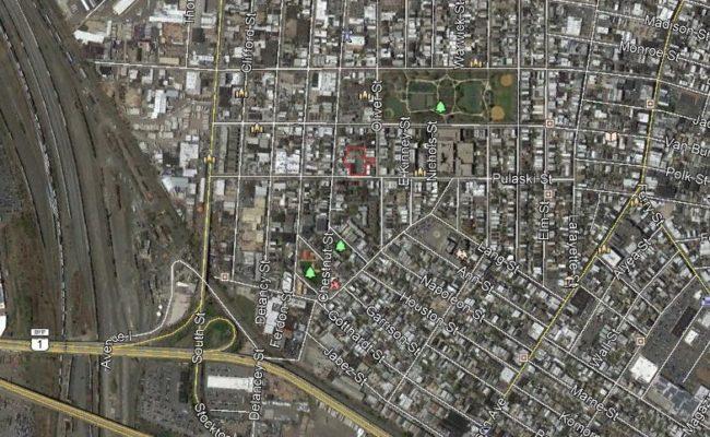 Pulaski Street aerial skyview